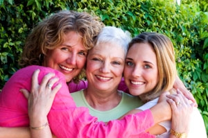 Three beautiful generations facing life with joy